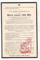 DP Maria Louisa Van Mol ° Muizen Mechelen 1856 † 1923 - Images Religieuses