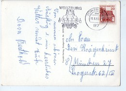 U3703 NICE TOURISTIQUE TIMBRE (flamme) ON POSTCARD Bayern > Wuerzburg _ FRANCKH VERLAG - Wuerzburg