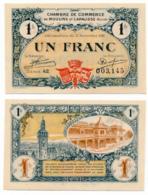 1914-1918 // C.D.C. // MOULINS & LAPALISSE // 17 Novembre 1921 // Un Franc // Sans Filigrane - Chambre De Commerce