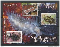 POLYNESIE 2013  Bloc N° 38 **  Neuf  MNH Superbe Faune Marine Nudibranches Mollusques Animaux Limaces De Mer - Blocs-feuillets