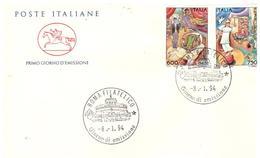 Fdc Poste Italiane Cavallino : IL CIRCO (1994); No Viaggiata; AF_Roma - 6. 1946-.. Republic