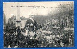 Chalon Sur Saone  ---  Carnaval 1910 -  Retour Des Chasses Africaines - Chalon Sur Saone