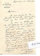 Lettre 1912 (format 18 X 11.5 Cm) / 88 MIRECOURT / Collège De Jeunes Filles / Directrice A THOMAS - France