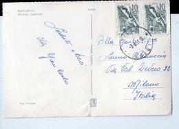 U3707 NICE STAMP On Postcard BLED, SLOVENIJA, JUGOSLAVIJA _ Foto Kompass 15769 _ - Slovenia