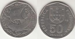 Portogallo 50 Escudos 1988 KM#636 - Used - Portogallo