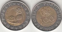 Portogallo 100 Escudos 1990 KM#645.1 - Used - Portogallo