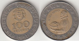 Portogallo 100 Escudos 1991 KM#645.1 - Used - Portogallo