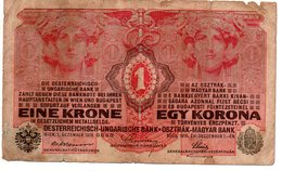 EINE KRONE  EGY KORONA 1916 - Hongrie
