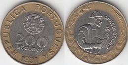 Portogallo 200 Escudos 1991 Garcia De Orta KM#655 - Used - Portogallo