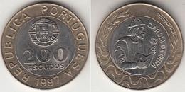 Portogallo 200 Escudos 1997 Garcia De Orta KM#655 - Used - Portogallo