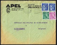 Y/T N° 368 X 2 + 410 + 411   S/lettre De France Vers La Belgique - 1939. - 1932-39 Paix