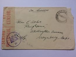 SOUTH AFRICA  1943 Censor Cover Saldanha To Wynberg Tape And Censor Cachets (V) S.A.A. - Afrique Du Sud (...-1961)