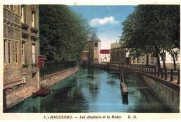 CPA N°23843 - LOT DE 3 CARTES D' HAGENAU - ABATTOIRS ET LA MODER + VIEUX PONT SUR LA MODER + ST. NIKOLAUSKIRCHE - Haguenau