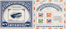 MUSTIQUE ST-VINCENT 2018 FF AIRPLANES STAMP ON STAMP CENTENARY FIRST AIRMAIL STAMP & SHEET 14471-2 YES - Airplanes