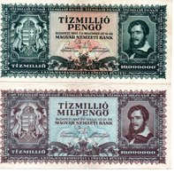 HONGRIE : TIZEMILLO PENGO 1945 , TIZMILLO PENGO 1946 - Hongrie