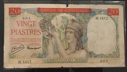 Indochine Indochina Vietnam Viet Nam Laos Cambodia VF 20 Piastres Banknote 1949 - P#81 / 02 Photo - Vietnam