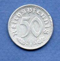 Allemagne -  50 Reichspfennig  1943 A  -  Km # 96 -    état  SUP  - Coups Tranche - [ 4] 1933-1945 : Troisième Reich