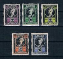 Luxemburg 1926 Caritas Mi.Nr. 177/81 Kpl. Satz ** - 1926-39 Charlotte Right-hand Side