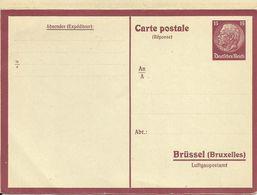 GS / CP P 1 Dt. Besetzung 2. Weltkrieg Brüssel Luftgaupostamt Postkarte Mit Antwort Ca. 1940 * # - Deutschland
