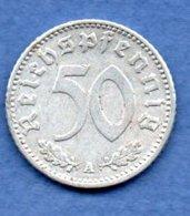 Allemagne -  50 Reichspfennig  1943 A  -  Km # 96 -    état  TTB - [ 4] 1933-1945 : Third Reich
