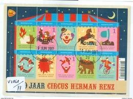 NEDERLAND NVPH  V.2868-2877 BLOK BLOC * BLOCK * GEBRUIKT * 100 JAAR CIRCUS RENZ * POSTFRIS GESTEMPELD - Period 1980-... (Beatrix)