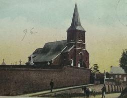 Aulnois-Quévy L'Eglise Avec Attelage - Quévy