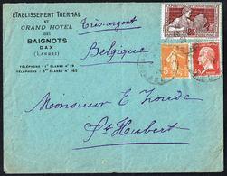 Y/T N° 175 + 212 + 158  S/lettre De France Vers La Belgique - 1924. - 1922-26 Pasteur