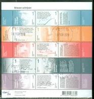 NEDERLAND * 2015 * NVPH 3315-3324 * BRIEVEN SCHRIJVEN * BLOK BLOC * BLOCK *  POSTFRIS GESTEMPELD - Periode 2013-... (Willem-Alexander)
