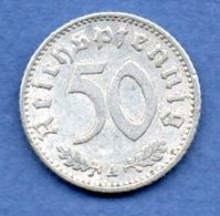 Allemagne -  50 Reichspfennig  1935 A  -  Km #  87-    état  TB+  -- - [ 4] 1933-1945 : Third Reich