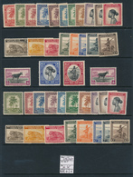 BELGIAN CONGO 1942 ISSUE COB 228/267 MNH - Congo Belge