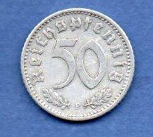 Allemagne -  50 Reichspfennig  1935 F  -  Km #  87-    état  TB+  -- - [ 4] 1933-1945 : Troisième Reich