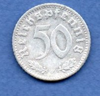 Allemagne -  50 Reichspfennig  1935 F  -  Km #  87-    état  TTB  -- - [ 4] 1933-1945 : Third Reich