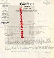 75- PARIS-BANQUE  LETTRE GAVEAU -45 RUE BOETIE- USINE FONTENAY SOUS BOIS -SUCCURSALE BRUXELLES- 43 RUE ROYALE-1926 - Banque & Assurance