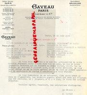 75- PARIS-BANQUE  LETTRE GAVEAU -45 RUE BOETIE- USINE FONTENAY SOUS BOIS -SUCCURSALE BRUXELLES- 43 RUE ROYALE-1926 - Bank & Insurance