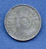 Allemagne -  10 Reichspfennig  1944 G -  Km #  101-    état  TTB  -- - [ 4] 1933-1945 : Troisième Reich
