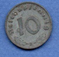 Allemagne -  10 Reichspfennig  1940 D -  Km #  101-    état  TTB  -- - [ 4] 1933-1945 : Tercer Reich