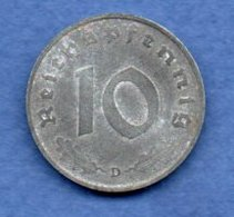 Allemagne -  10 Reichspfennig  1944 D -  Km #  101-    état  TTB  -- - [ 4] 1933-1945 : Troisième Reich