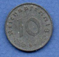 Allemagne -  10 Reichspfennig  1941 B -  Km #  101-    état  TTB  -- - [ 4] 1933-1945 : Troisième Reich