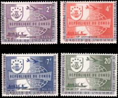 Congo 0520/23**  Droits De L'Homme MNH Surcharges Déplacées MNH - République Du Congo (1960-64)