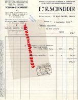 75- PARIS - RARE FACTURE R. SCHNEIDER-POELMAN- GAZ DE COMBAT ARMEE TERRE MER AIR-PROTECTION CIVILE-17 RUE CADET-1938 - Petits Métiers