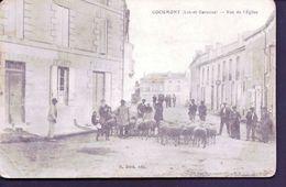 Cocumont , Rue De L'eglise,berger Avec Moutons - France