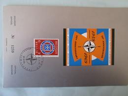 1969 Belgium - NATO 20th Anniversary - FDC Souvenir Card (Flags)(Militaria) - NATO