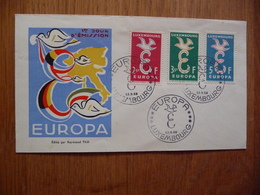 (D)  LUXEMBURG FDC EUROPA 1958 - FDC