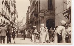 ALGERIE - ALGER- CARTE PHOTO RARE RUE DE LA MARINE - Algerien