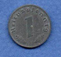 Allemagne -  1 Reichspfennig  1943 F-  Km #  97-    état  TTB  -- - [ 4] 1933-1945 : Troisième Reich