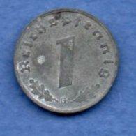 Allemagne -  1 Reichspfennig  1942 G-  Km #  97-    état  TTB  -- - [ 4] 1933-1945 : Troisième Reich