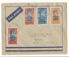 Lettre De Cotonou à Méaulte (maison H. POTEZ) Par Avion - Affranchie Avec Timbres Dahomey AOF - Lettres & Documents