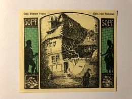 Allemagne Notgeld Quedlinburg 50 Pfennig - [ 3] 1918-1933 : République De Weimar