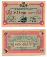 1914-1918 // C.D.C. // VIENNE // 18 Janvier 1916 // Cinquante Centimes // Sans Filigrane - Chambre De Commerce