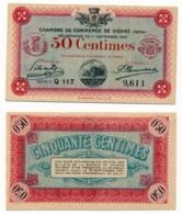 1914-1918 // C.D.C. // VIENNE // 11 Septembre 1916 // Cinquante Centimes // Sans Filigrane - Chambre De Commerce